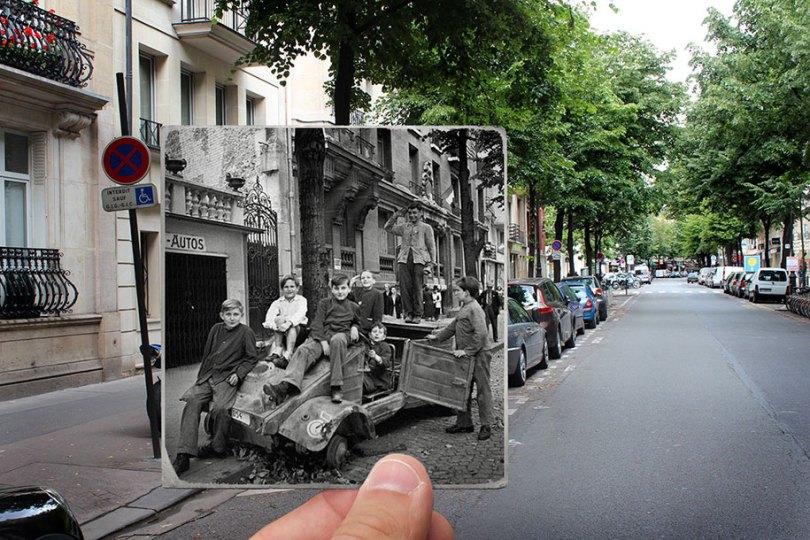 old paris past now photography julien knez 2 - Paris no passado nestas fotos justapostas