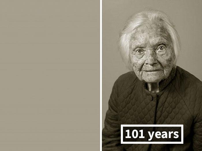 young vs old portraits faces of century jan langer 3 - Impressionante série de retratos: Centenários antes de depois