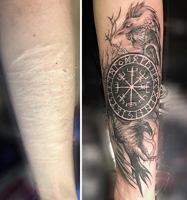 scars tattoos cover up 18 - 50 Incríveis tatuagens de encobrimento de cicatrizes