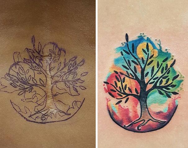 scars tattoos cover up 23 - 50 Incríveis tatuagens de encobrimento de cicatrizes