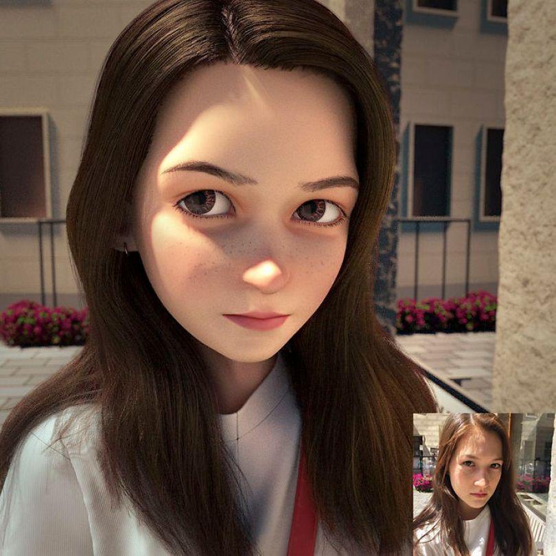 59b695d043dea artist transforms strangers 3d cartoons lance phan 25 59b23ccd2e252  700 - Você gostaria de se tornar um personagem da Pixar?