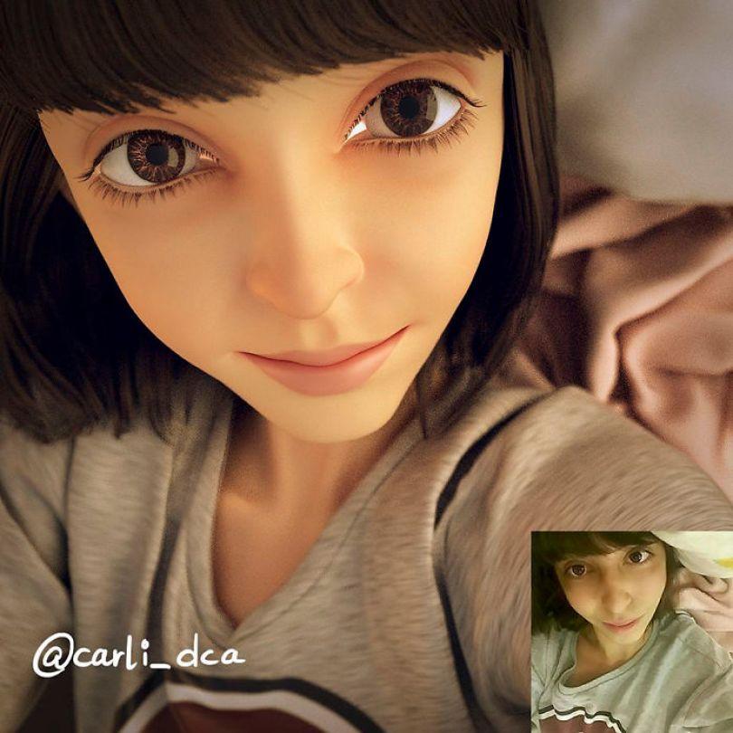 59b695d23d918 artist transforms strangers 3d cartoons lance phan 27 59b23cd3c44f7  700 - Você gostaria de se tornar um personagem da Pixar?