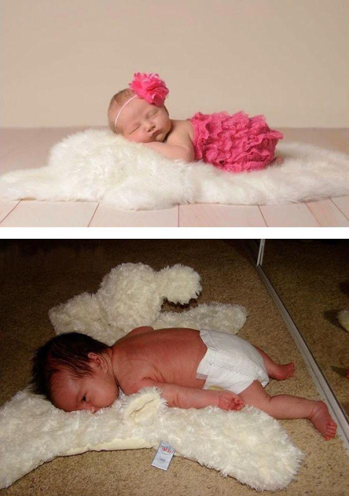 59e0b27aeafac baby photoshoot expectations vs reality pinterest fails 4 577f637d2a5d6  700 - Tirar foto de bebê não é nenhum pouco fácil