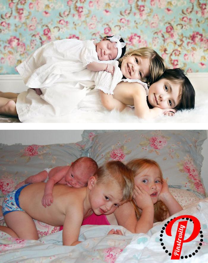 59e0b27d358ca baby photoshoot expectations vs reality pinterest fails 7 577f638345e9c  700 - Tirar foto de bebê não é nenhum pouco fácil