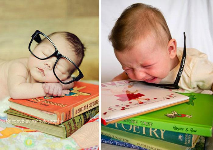 59e0b28f7ad43 baby photoshoot expectations vs reality pinterest fails 01 577f9253dbf19  700 - Tirar foto de bebê não é nenhum pouco fácil