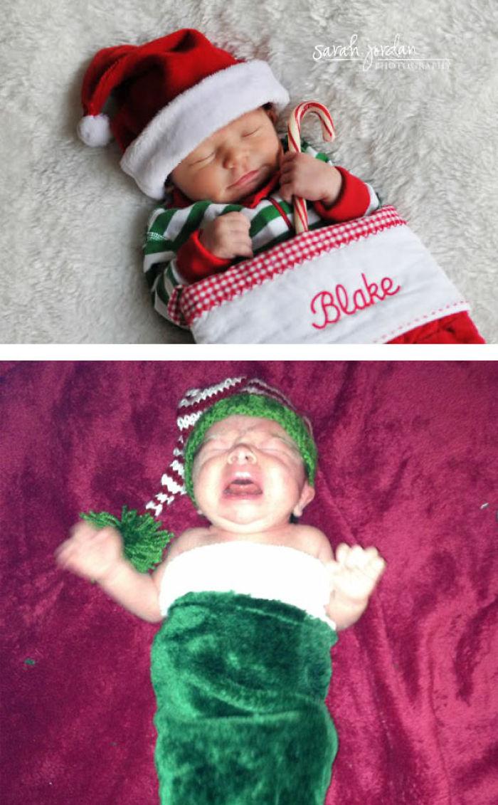 59e0b29614dde baby photoshoot expectations vs reality pinterest fails 17 577f639a5971d  700 - Tirar foto de bebê não é nenhum pouco fácil