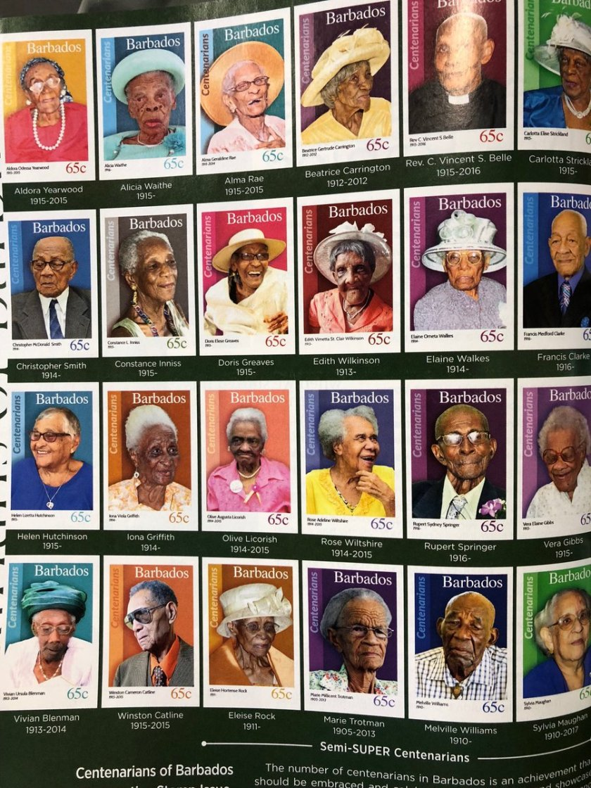 l67afj31huc01 Portraits Of 100-Year-Old Citizens Of Barbados Were Printed On Postal Stamps To Celebrate Their Impressive Anniversaries Random