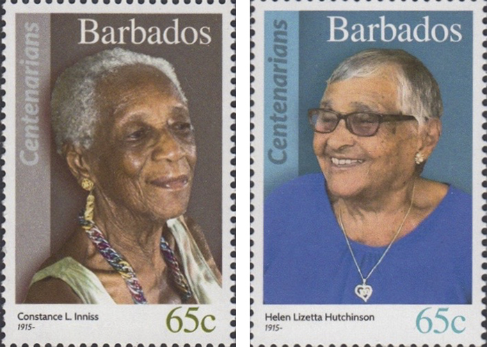 stamps-barbados13 Portraits Of 100-Year-Old Citizens Of Barbados Were Printed On Postal Stamps To Celebrate Their Impressive Anniversaries Random