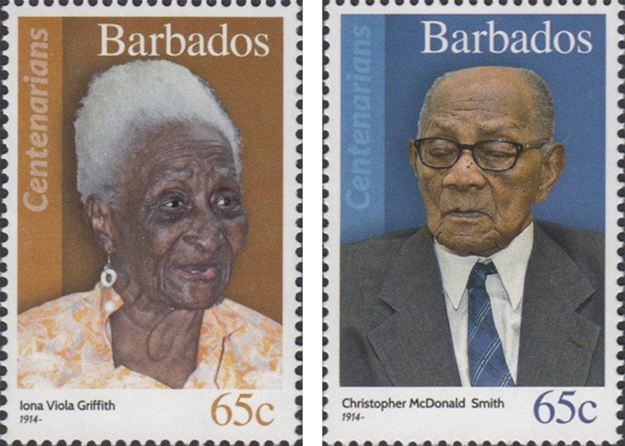 stamps-barbados14 Portraits Of 100-Year-Old Citizens Of Barbados Were Printed On Postal Stamps To Celebrate Their Impressive Anniversaries Random