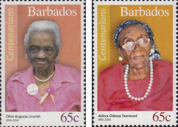 stamps-barbados16 Portraits Of 100-Year-Old Citizens Of Barbados Were Printed On Postal Stamps To Celebrate Their Impressive Anniversaries Random