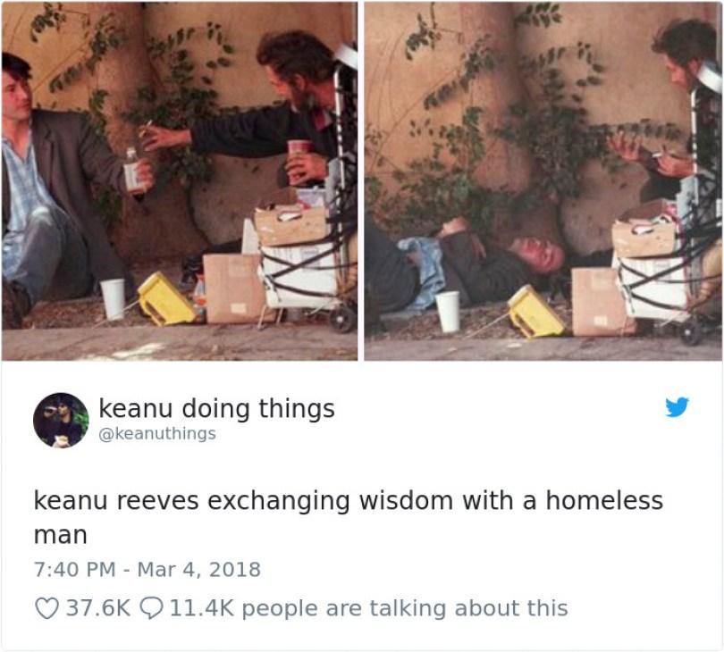 5abe1c05e8ee3 970383440989315073 png  700 5abc9ca5c05d3  700 - Por que Keanu Reeves tímido e introvertido é tão popular na Internet?
