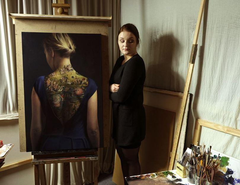 Agnieszka Nienartowicz garden of earthly delights 5 - Tatuagem de verdade ou não?