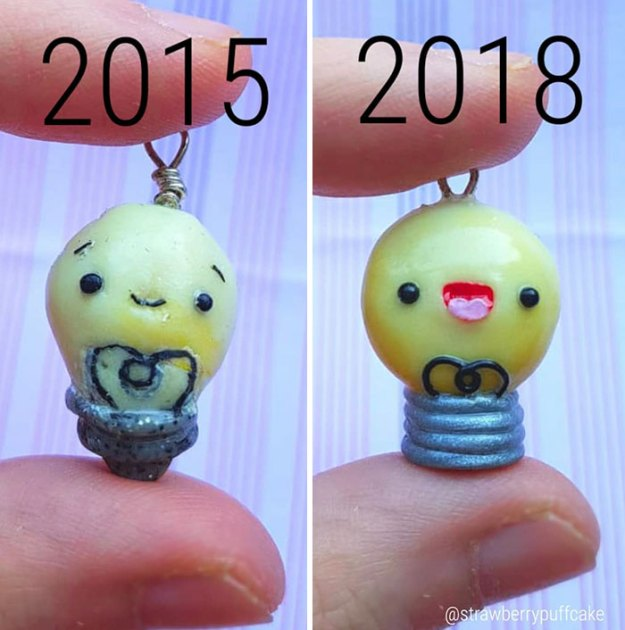 5b6d3ba7a4d6b-Clay-modeling-artist-showed-how-the-experience-made-him-evolve-and-this-progress-is-very-good-to-see-5b6aabf82bc68__700 This Artist Was Pleasantly Surprised How Much Her Art Evolved After She Tried Recreating Old Artwork Art Random