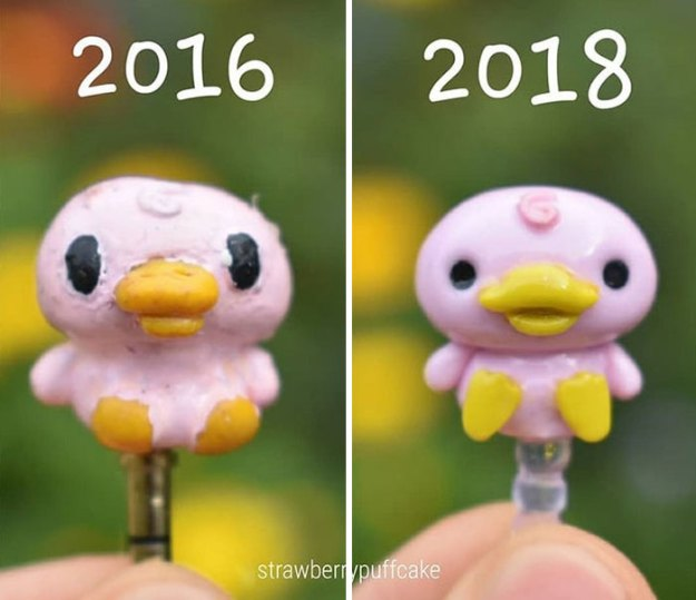 5b6d3ba851a2a-Clay-modeling-artist-showed-how-the-experience-made-him-evolve-and-this-progress-is-very-good-to-see-5b6aabdf8e675__700 This Artist Was Pleasantly Surprised How Much Her Art Evolved After She Tried Recreating Old Artwork Art Random
