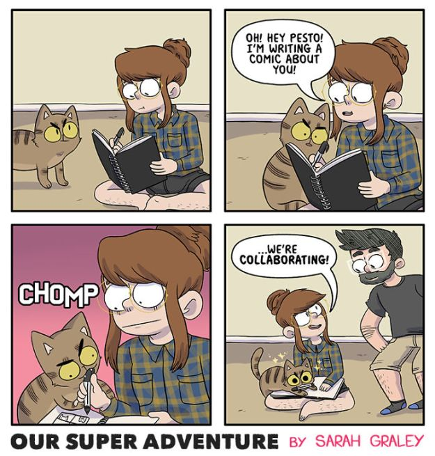 5b6d3bc269f35-relationship-comics-boyfriend-cats-sarah-graley-illustration-63-5b6ae33d5866c__700 Artist Creates Hilarious Comics Illustrating Her Daily Adventures With Her Fiancé And Her Four Cats Random