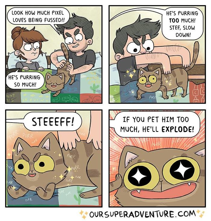 5b6d3bc31259c-relationship-comics-boyfriend-cats-sarah-graley-illustration-45-5b6ae3157fb6f__700 Artist Creates Hilarious Comics Illustrating Her Daily Adventures With Her Fiancé And Her Four Cats Random
