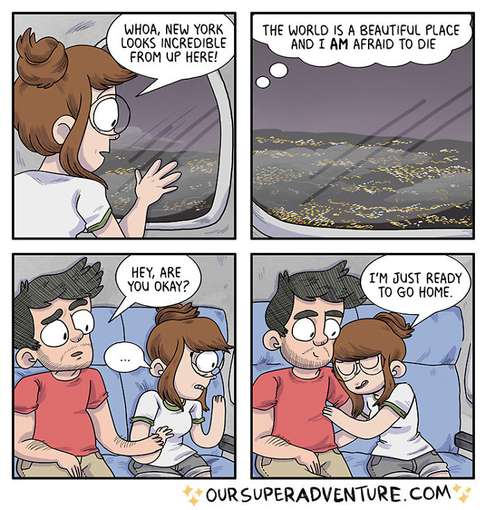 5b6d3bd08d276-relationship-comics-boyfriend-cats-sarah-graley-illustration-5b6ae6f9c00b1-png__700 Artist Creates Hilarious Comics Illustrating Her Daily Adventures With Her Fiancé And Her Four Cats Random
