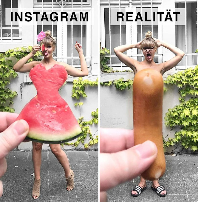 5b976d990ae4d German shows the reality of perfect instagram photos and the result is a lot of fun 5b8e33ec21b15 880 - Instagram: Expectativa x Realidade