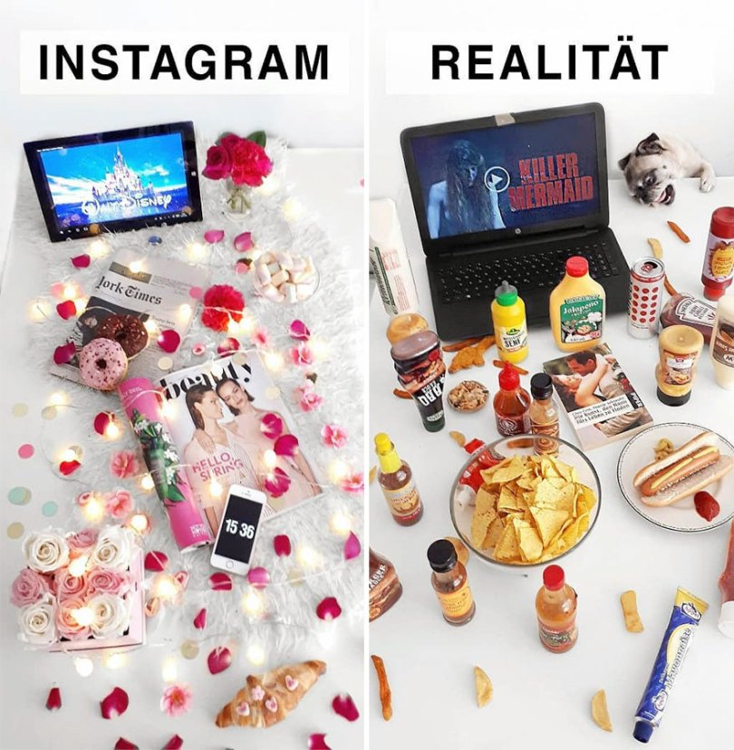 5b976d9a46b4a German shows the reality of perfect instagram photos and the result is a lot of fun 5b8e33e82b76b  880 - Instagram: Expectativa x Realidade # Parte 2
