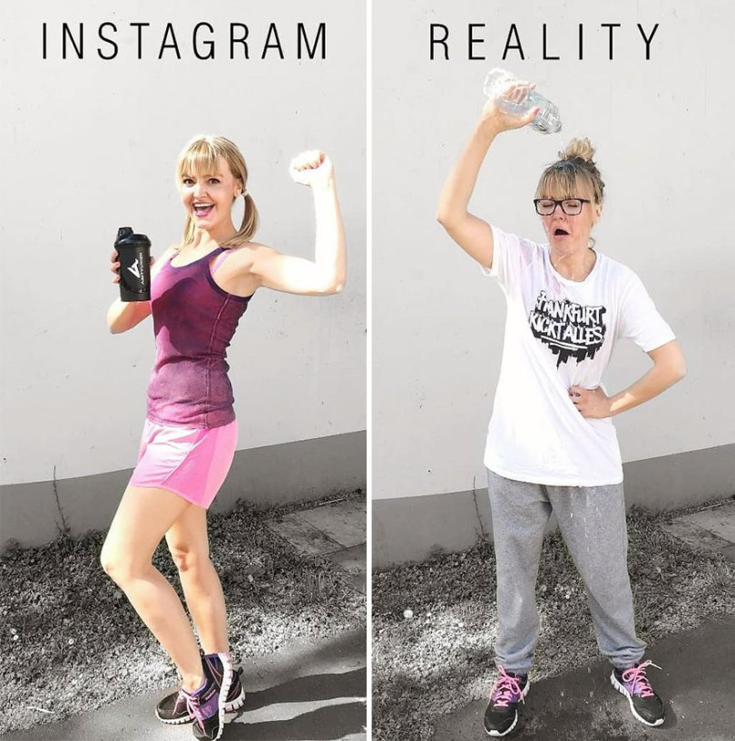 5b976d9b1fd0b German shows the reality of perfect instagram photos and the result is a lot of fun 5b8e340b1696b  880 - Instagram: Expectativa x Realidade # Parte 2