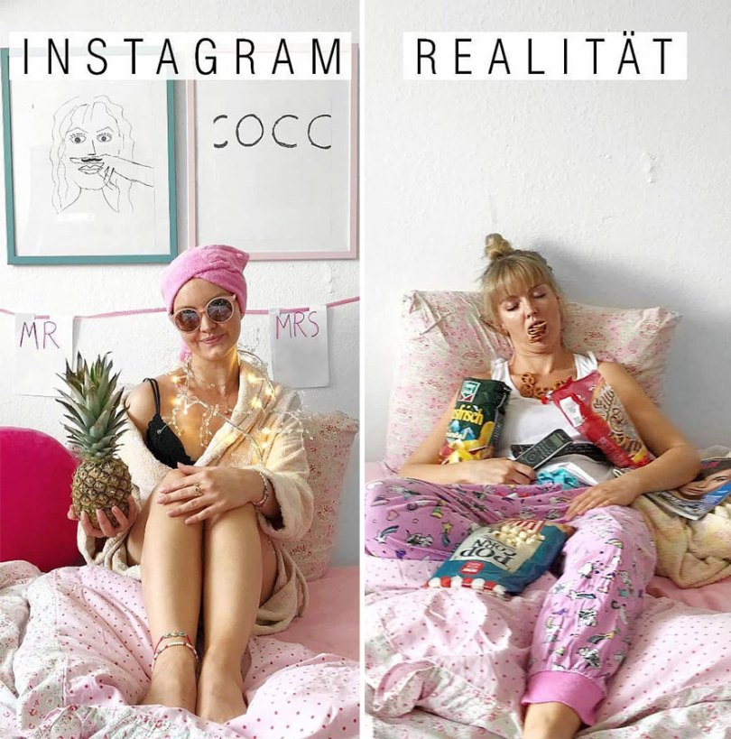 5b976d9eb3ee5 German shows the reality of perfect instagram photos and the result is a lot of fun 5b8e340ca47ae  880 - Instagram: Expectativa x Realidade # Parte 2
