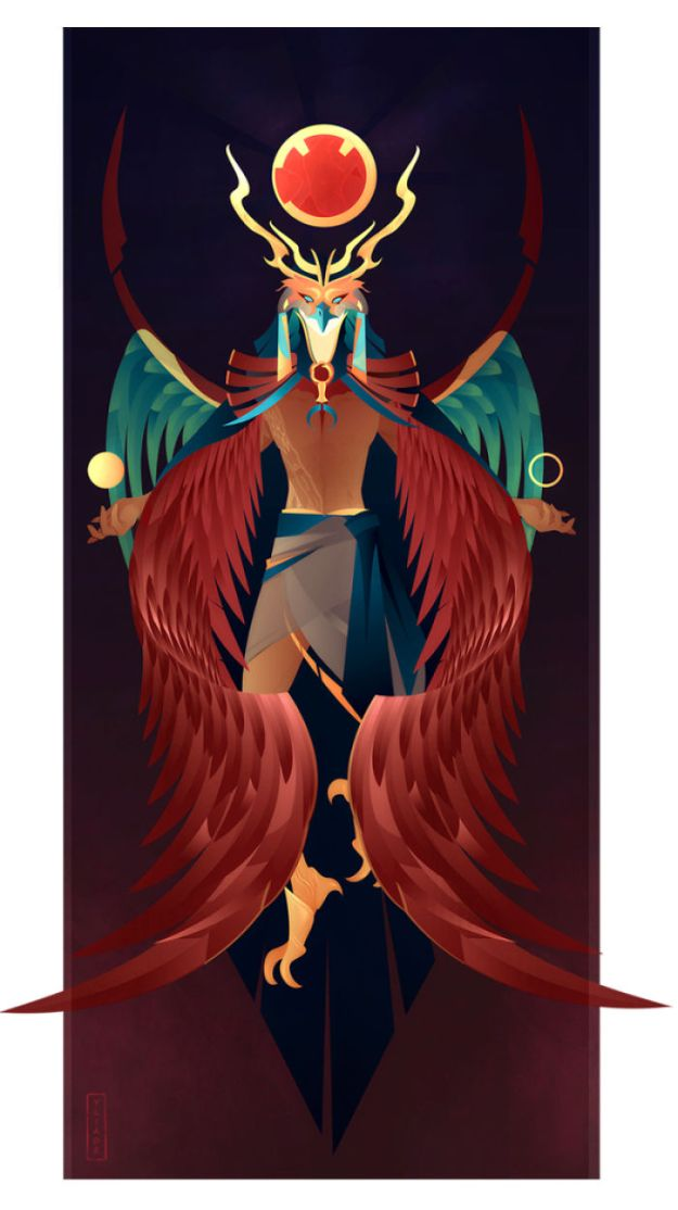 5bcf06f08c9b0-8-Ra-Yliade-5bc64680aaaa5__700 This French Artist Created 11 Beautiful Illustrations Of Ancient Egyptian Gods And Goddesses Random