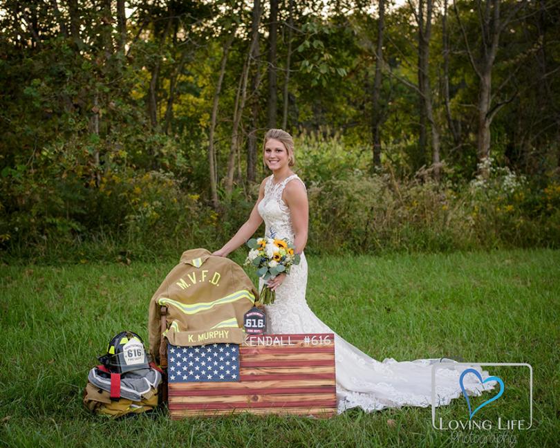 widowed bride wedding photos jessica padgett 1 - Em vez de cancelar o casamento, esta noiva viúva levou fotos com seu noivo