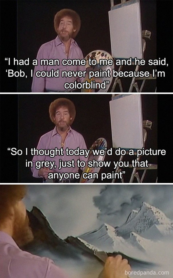 5be3fb397098e-Untitled-1-5be298ca309fb__700 25+ Bob Ross Memes That Show He Truly Was The Best Art Random