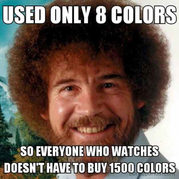 5be3fb3c0b8ad-1cf65c9508ece6be41f3c98c35abaf22-5be040a6957a5__700 25+ Bob Ross Memes That Show He Truly Was The Best Art Random