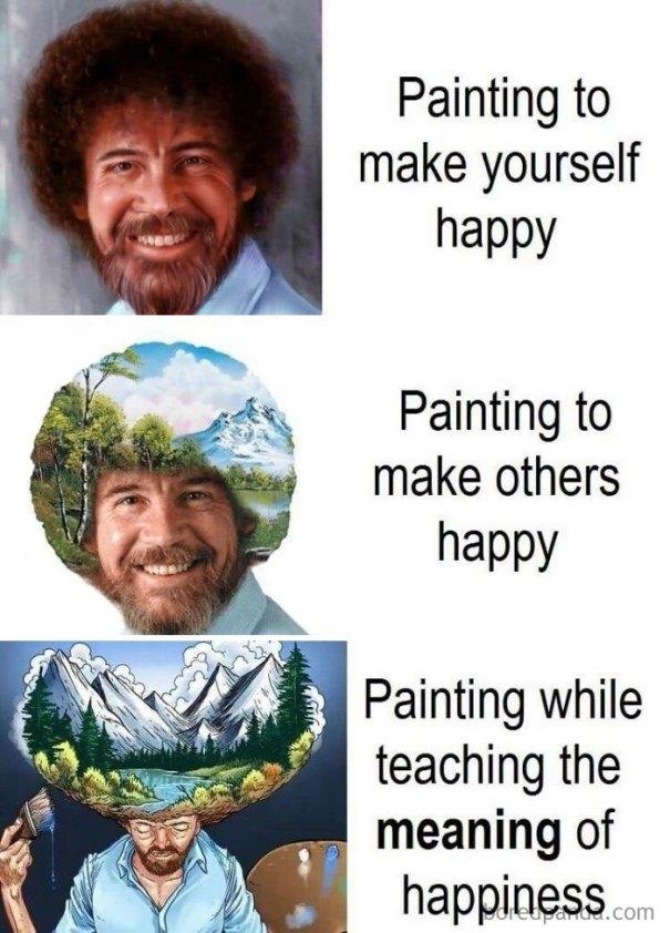 5be3fb409c2f9-funny-bob-ross-memes-11-5be2946f037ca__700 25+ Bob Ross Memes That Show He Truly Was The Best Art Random