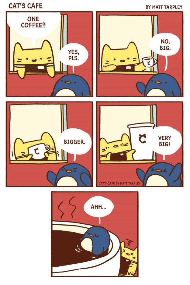 5bf6705d4b076-A-Cats-Caf-for-Everyone-5bf3de88d0120__880 47 Wholesome 'Cat's Cafe' Comics That Will Brighten Your Day Random