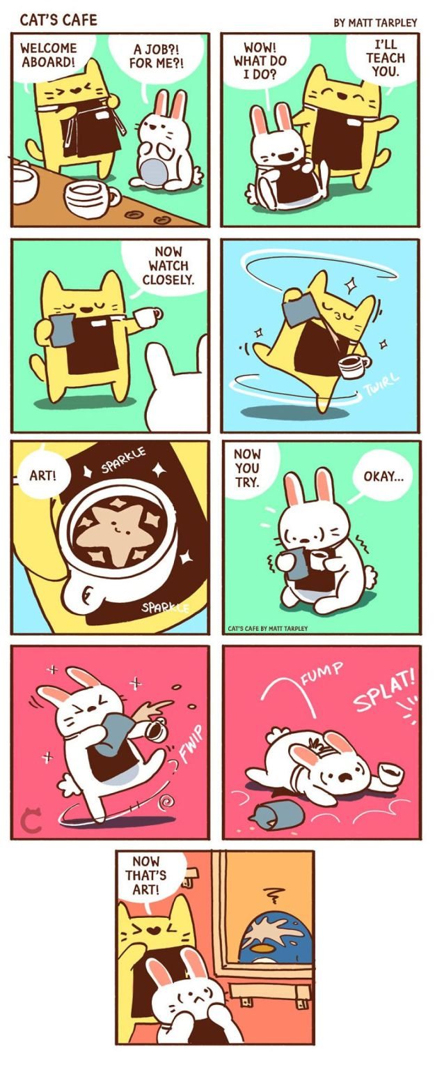 5bf670601d7e2-A-Cats-Caf-for-Everyone-5bf3de9f15d23__880 47 Wholesome 'Cat's Cafe' Comics That Will Brighten Your Day Random