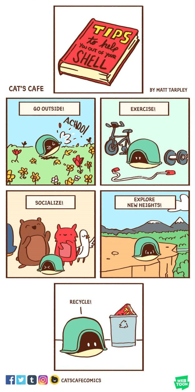 5bf670607973d-A-Cats-Caf-for-Everyone-5bf3de8d2c263__880 47 Wholesome 'Cat's Cafe' Comics That Will Brighten Your Day Random