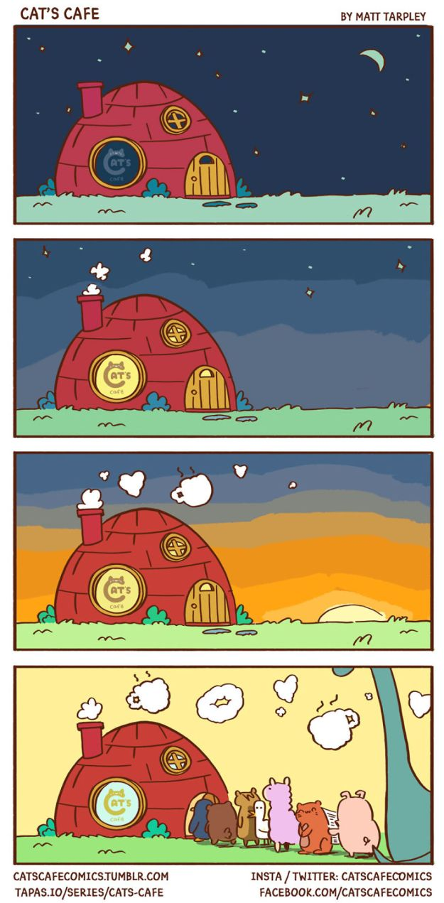 5bf670617c9b8-episode_26-5bf2636dd13dd__880 47 Wholesome 'Cat's Cafe' Comics That Will Brighten Your Day Random