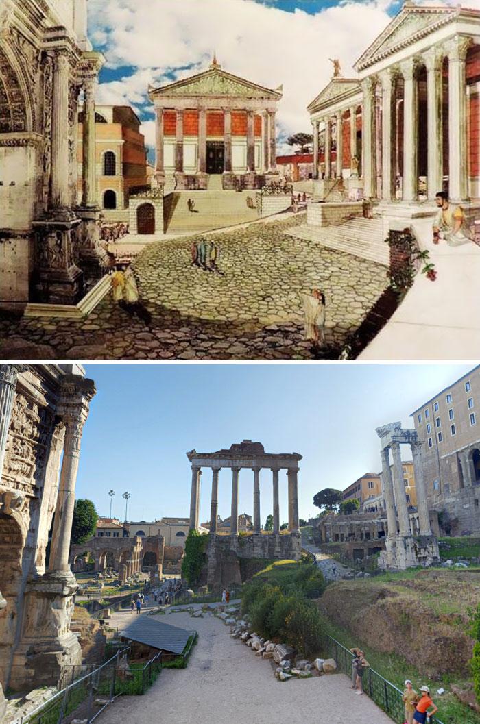 5c9c8347044b1 before after roman buildings structures 5c9a01710d08c  700 - 11 estruturas antigas dos romanos há 2000 anos como seria na época