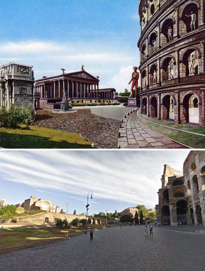 5c9c8347329f8 before after roman buildings structures 5c99fe362b089  700 - 11 estruturas antigas dos romanos há 2000 anos como seria na época