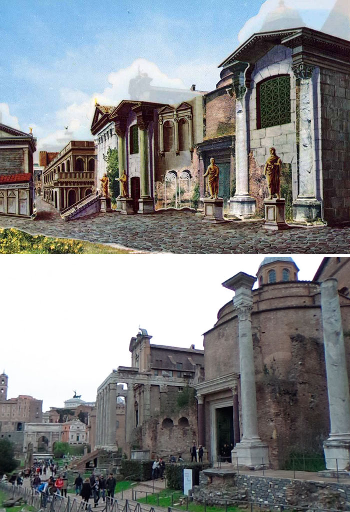 5c9c8347c8c53 before after roman buildings structures 10 5c9b497aa1994  700 - 11 estruturas antigas dos romanos há 2000 anos como seria na época