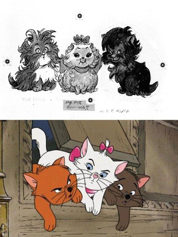 5c9c835e1c4e0 concept art sketches original compared disney characters 22 5c989bcad98a3  700 - Personagens da Disney em comparação com sua arte conceitual original