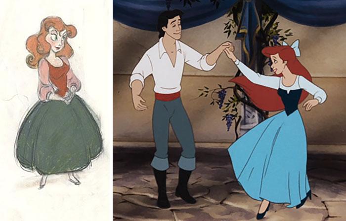 5c9c835f3abfa concept art sketches original compared disney characters 25 5c98a3069de92  700 - Personagens da Disney em comparação com sua arte conceitual original