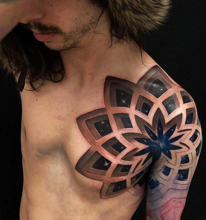 5caef3b9e51f0 3d tattoo ideas 31 5ca1dba582a99  700 - 56  Tatuagens em 3D que irão bagunçar sua mente