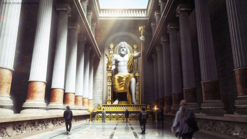 5ccff21054c9e 06 Seven Wonders Olympia 5cc7a91b4768e  880 - 7 Imagens Impressionantes das Maravilhas do Mundo Antigo em seu auge