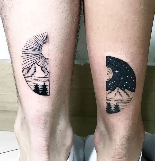 5cee3cdd7c8c4 matching tattoo ideas 20 5ce53e93f3fb5  700 - 30 criativas tatuagens conectadas entre pessoas
