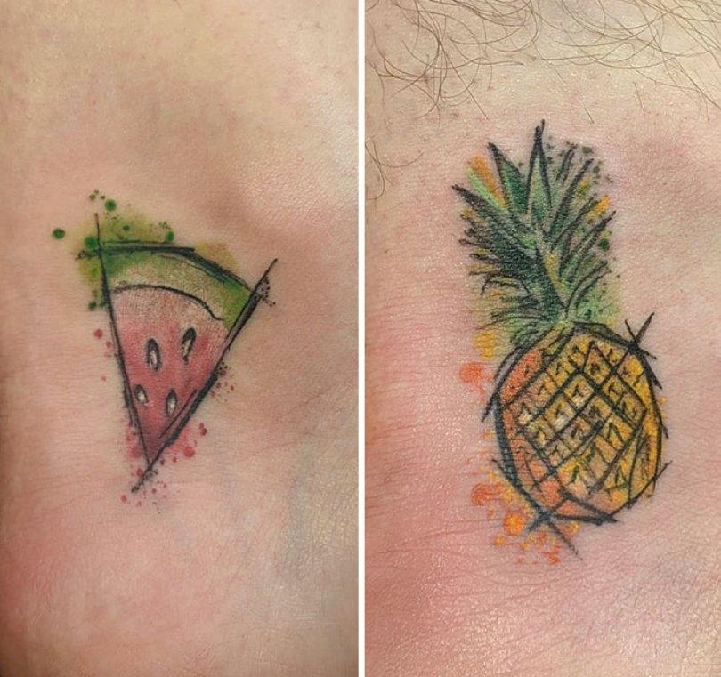 5cee3cdf8d6c2 matching tattoo ideas 52 5ce540f604ce8  700 - 30 criativas tatuagens conectadas entre pessoas
