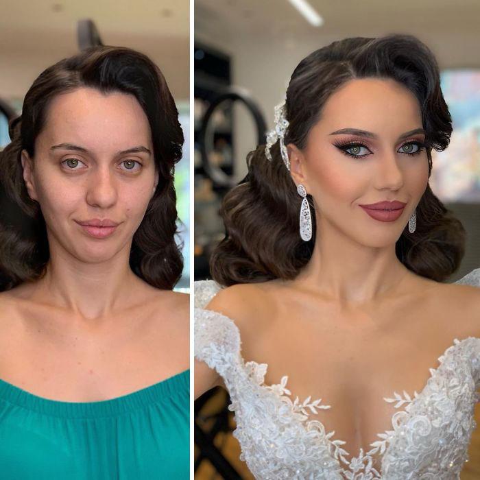 5d4d3da0df70e bride 2 5d4bd00de2998  700 - 23 lindas noivas antes e depois de sua maquiagem de Casamento