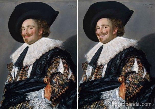 5d7602eda3314 famous paintings portraits faceapp 21 5d72454f7bca4  700 - Com um sorriso é sempre melhor