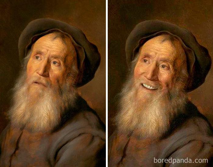 5d7602efd1fab famous paintings portraits faceapp 39 5d722523a6e11  700 - Com um sorriso é sempre melhor
