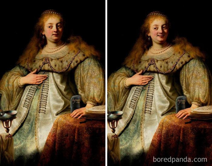 5d7602f097cdc famous paintings portraits faceapp 40 5d722525beab1  700 - Com um sorriso é sempre melhor