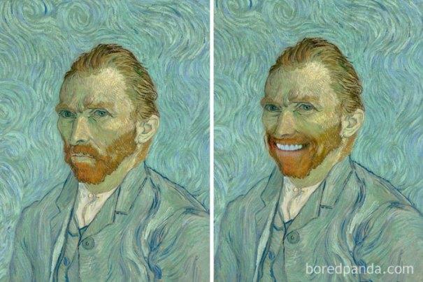 5d7602f15e3c5 famous paintings portraits faceapp 15 5d7245cd04d93  700 - Com um sorriso é sempre melhor