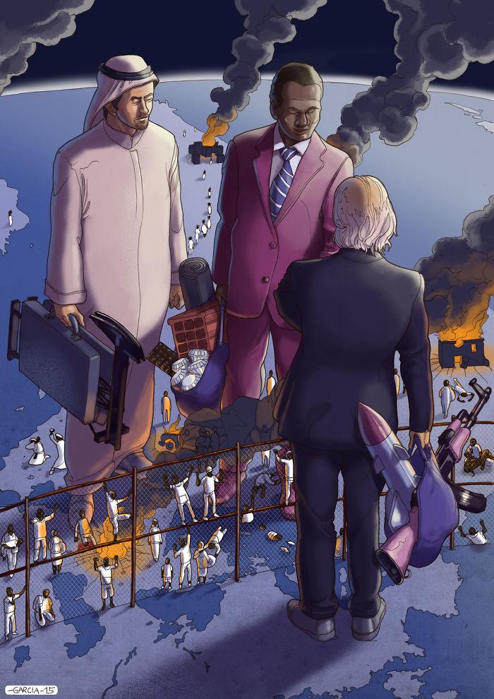 5d8dbd1c4f74f 50 Brutally Shocking Illustrations that tell whats Wrong with our Society 5d8a1079bbb63  700 - 35 ilustrações instigantes que mostram o que há de errado com nossa sociedade