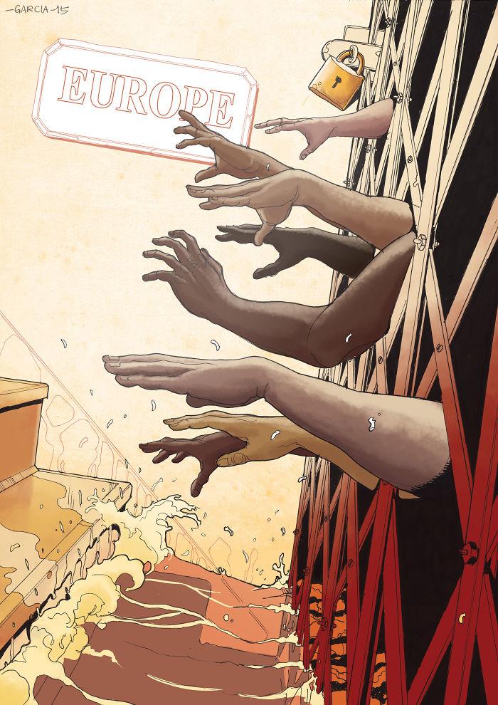 5d8dbd1d78cc9 50 Brutally Shocking Illustrations that tell whats Wrong with our Society 5d8a0ceb5cca2  700 - 35 ilustrações instigantes que mostram o que há de errado com nossa sociedade